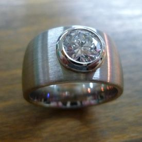 Ring Pt 950 mit Brillant 1 10 ct